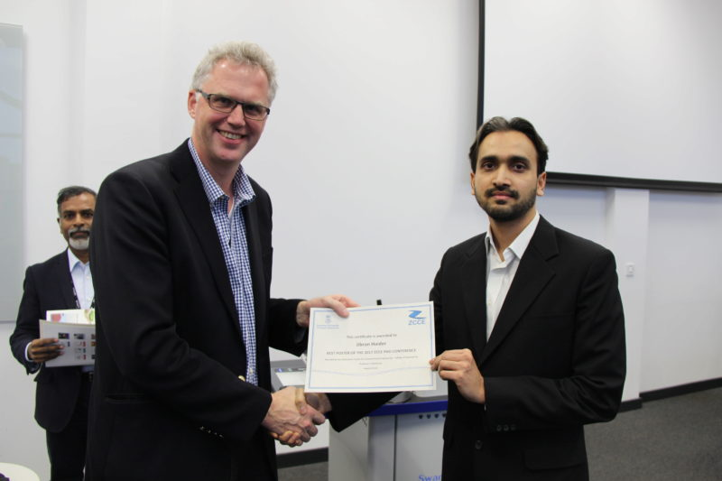 'Best Poster' awarded at ZCCE PhD conference